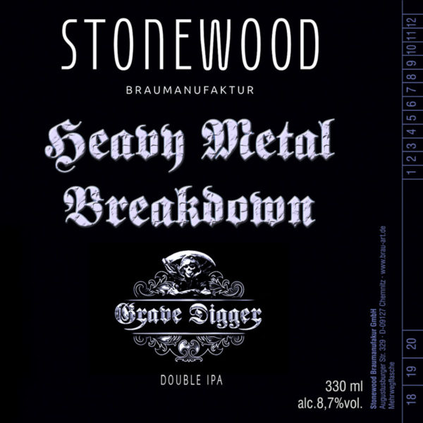 GRAVE DIGGER Heavy Metal Breakdown Double IPA